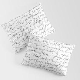 Script Text Book Page Letter Pillow Sham