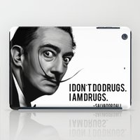 salvador dali iPad Cases featuring Salvador Dali by Pancho the Macho