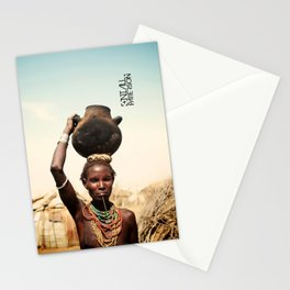omo valley tribal woman  Stationery Cards