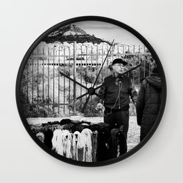 Man and Mountain Wall Clock