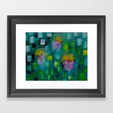 Garden in the Rain Framed Art Print