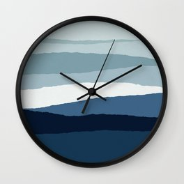 Blue Abstract II Wall Clock