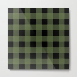 Green Buffalo Plaid Metal Print