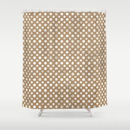 Iced coffee spots with texture Shower Curtain