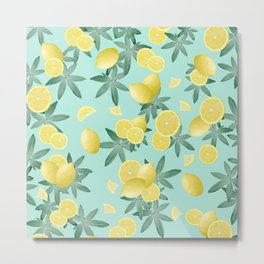 Lemon Twist Vibes #4 #tropical #fruit #decor #art #society6 Metal Print