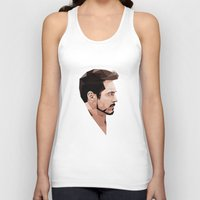 robert downey jr Tank Tops featuring Robert Downey Jr Geometric Style by JamiePowellPrints