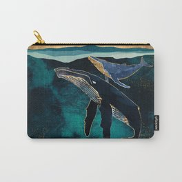 Moonlit Whales Carry-All Pouch