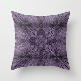 Mandala Motion Purple Throw Pillow