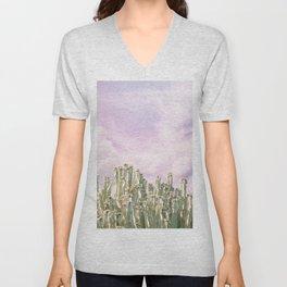 Unicorn Sky Cactus Unisex V-Neck