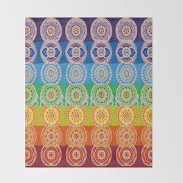 SEVEN CHAKRA SYMBOLS OF HEALING ART Throw Blanket