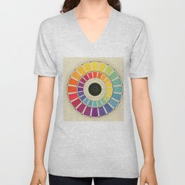 Color Wheel Spinner Unisex V-Neck