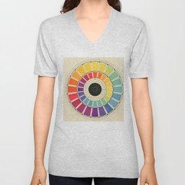 Color Wheel Spinner Unisex V-Neck