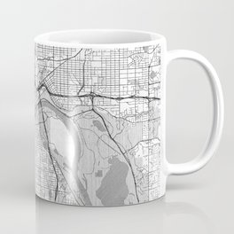 St Paul Map Line Coffee Mug
