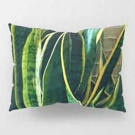 Exotically Tangled Leaves Lavish Art Photo Pillow Sham