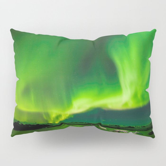 Northern Lights In Iceland Pillow Sham