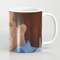 andreas preis Mugs featuring Andreas Antonopoulos by The Colors of Bitcoin: Bitcoin Art