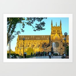 St Mary's Cathedral, Sydney Art Print