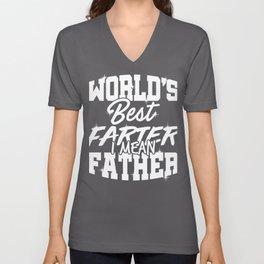 Dad Gift Idea World's Best Farter, I Mean Father Unisex V-Neck