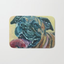 Delilah the Boxer Bath Mat