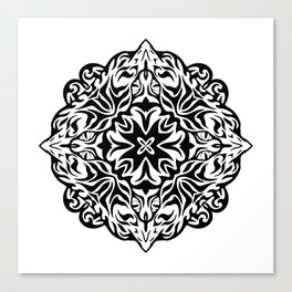 Polynesian style tattoo mandala Canvas Print
