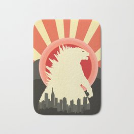 """""""May Godzilla destroy this home last"""" Classic Movie Poster Bath Mat"""