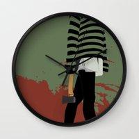 blood Wall Clocks featuring blood by Eda ERKOVAN