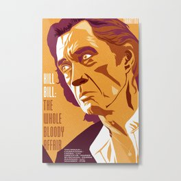 Quentin Tarantino's Plot Movers :: Kill Bill Metal Print