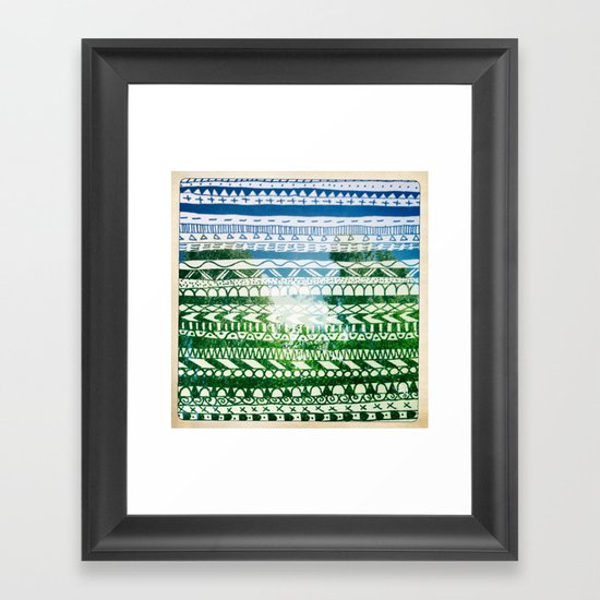 Hipstapattern Framed Art Print