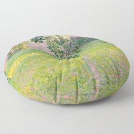 """Claude Monet """"Paysage de matin"""" (1888) Floor Pillow"""