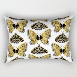 Golden Butterfly & Moth Rectangular Pillow