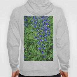 Blue False Indigo- vertical Hoody