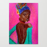 african Canvas Prints featuring African by Ksuhappy