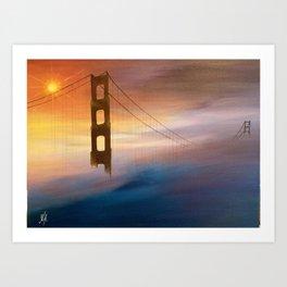 CROSSING THE BRIDGE Art Print