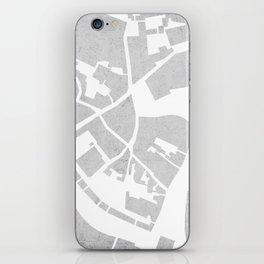 Vilnius map concrete iPhone Skin