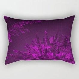 Future City Purple Rectangular Pillow