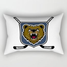 Modern professional grizzly bear logo for a sport team Rectangular Pillow