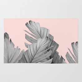 Blush Banana Leaves Dream #2 #tropical #decor #art #society6 Rug