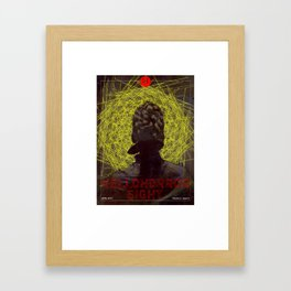 HelloHorror Issue 8 Cover - Victorian woman stares into the abyss Framed Art Print