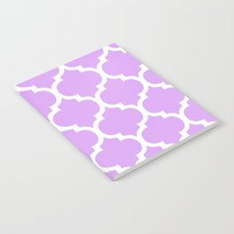 MOROCCAN PURPLE VIOLET AND WHITE PATTERN Notebook