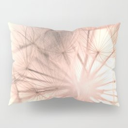Pink Dandelion Macro Nature Photography Art and Apparel Pillow Sham