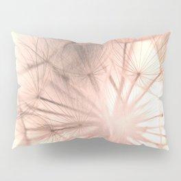 Pink Dandelion Macro Nature Photography Art and Apparel Pillow Sham