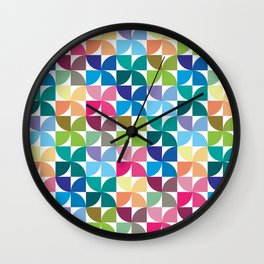 Geometric Pattern 1 (Colorful semicircle) Wall Clock