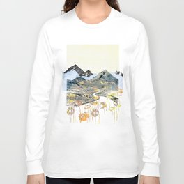 Daisy Mountain - Art Collage Long Sleeve T-shirt