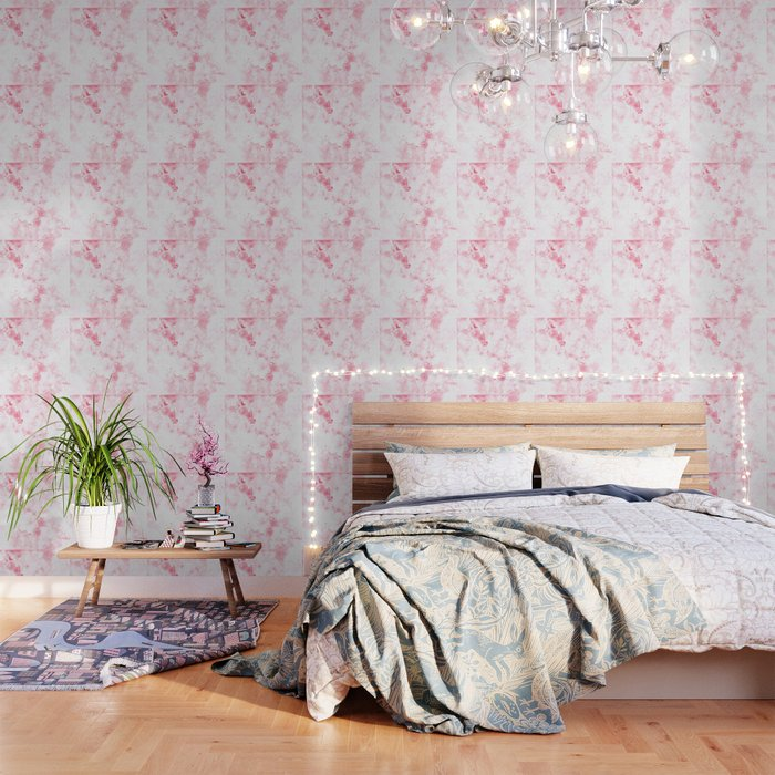 Japanese Cherry Blossom Wspw Wallpaper By Gxp Design Society6