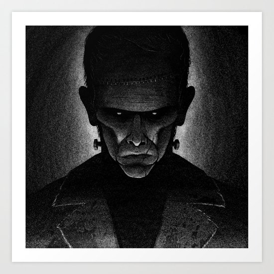Drawlloween 2013: Creepy Face Art Print