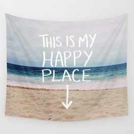 My Happy Place (Beach) Wall Tapestry