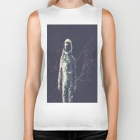 spaceman Biker Tanks featuring Spaceman by Aeodi Graphics