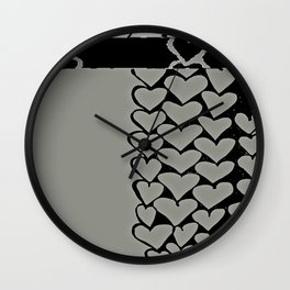 Heart 2 Wall Clock