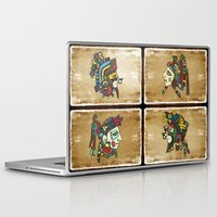 mexican Laptop & iPad Skins featuring mexican warriors by laika in cosmos