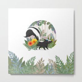 Skunk in the forest Metal Print